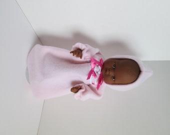 "10-12"" Light Pink Bunting and Hood Set"