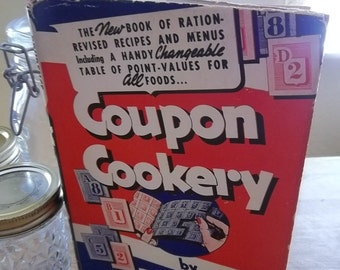 Vintage 1943 Coupon Cookery Book by Prudence Penny Wartime WWII Rationing Hearst Publications