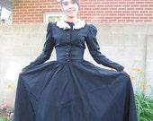 Vintage black dress antique