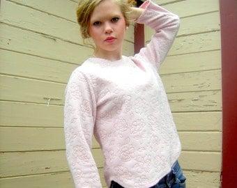 Vintage pink sweater oscar de la renta