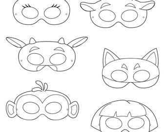 Australian Animals Printable Coloring Masks aussie animal