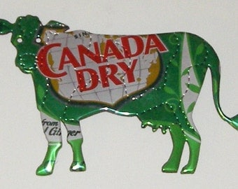 Cow Magnet - Canada Dry Ginger Ale Soda Can (Replica)