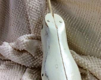 Vintage Wood Shoe Mold White Shabby