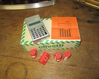 Olivetti Logos9 Calculator in original box great collectible