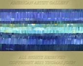 ABSTRACT PAINTING Original Large 24x48 Impasto Wall Art By Thomas John
