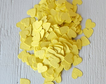 SALE - Yellow Heart Wildflower Seed Paper Confetti, Wedding Favor