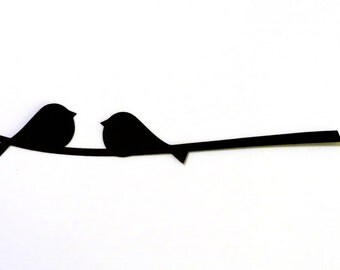 Two Birds on a Branch Die Cut for Scrapbooking or Cardmaking