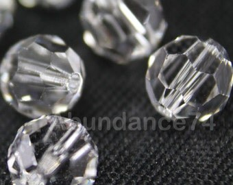 36 pieces Genuine Swarovski Elements - Swarovski Crystal Beads 5000 5mm Round Ball Beads - CLEAR