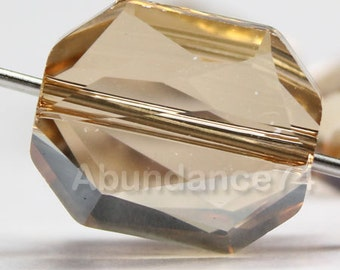 4 pcs Swarovski Crystal 5520 12mm Graphic Bead - GOLDEN SHADOW