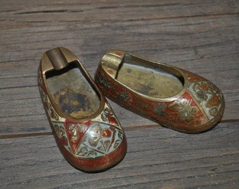 Vintage Brass Indian Small Slipper Shoes