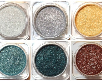 Orchid Blue Cosmetics Mineral Eye Shadow Set of 6 - Maxed Out Glitter Collection