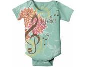 Music Baby Bodysuit, Personalized Treble Clef Infant Creeper, Custom ONe-Piece
