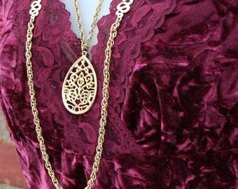 Gold Chain Necklace Chunky
