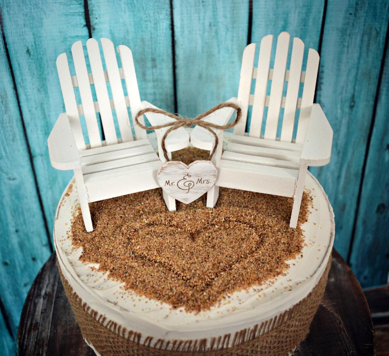White Adirondack Chairs Beach Chairs Beach Wedding Cake
