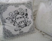 Boho Bandana Feather Pillow - Vintage Chenille with Bandana - Very Boho-Cottage-Chic Home Decor