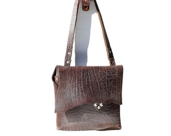 Bracken Brown Heavy Leather Shoulder Bag