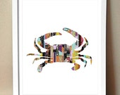 "Art Print - ""Grabby"" - Crab Magazine Strip Art"