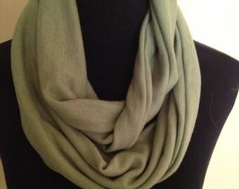 New Green Stretch Knit Infinity Scarf
