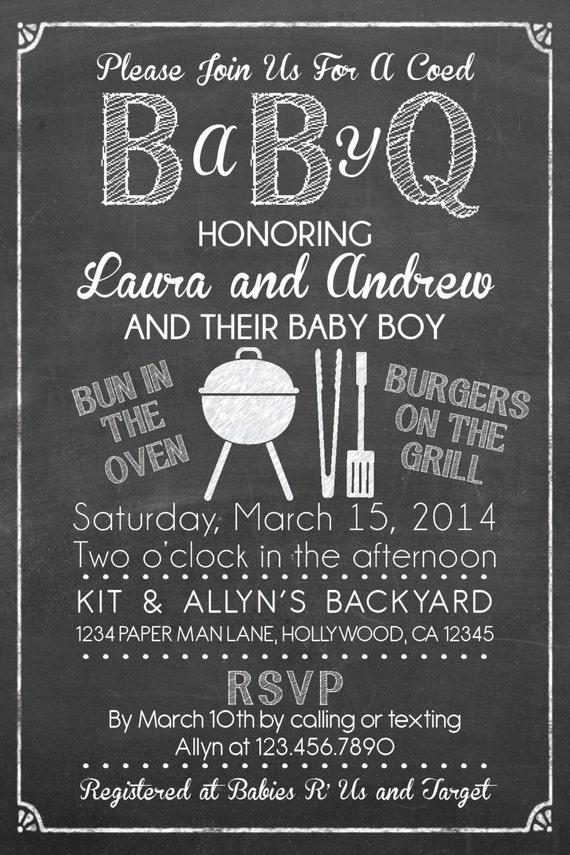 coed baby shower | etsy, Baby shower invitations