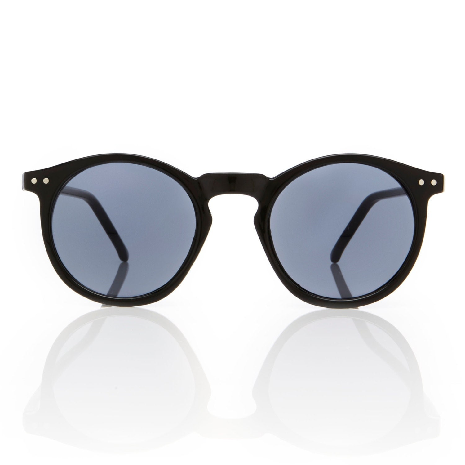 Black Frame Accessory Glasses : O Malley Sunglasses Retro Round Black Frame Glasses ...