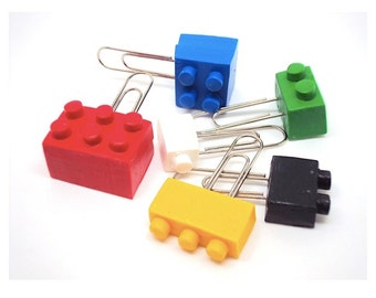 Miniature Lego Paperclips in Polymer clay