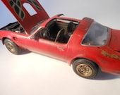 Scale Model Car Pontiac Firebird in Red by Classicwrecks