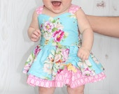 Baby Poppy's Peekaboo Dress PDF Pattern sizes newborn to 18-24m