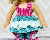 Lacey's Reversible Top and Iris' Frilly Shorts for Dolls PDF Pattern 15- and 18-inch dolls
