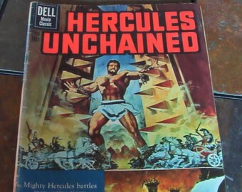 Vintage Hercules Unchained Comic Book Numbered 1121 1960 Dell Publishing Co