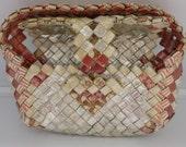 Vintage Prison Art Purse Camel Joe Cool Cigarette foil Papers Folk Art Red & White Outsider Art Handbag Silver Red