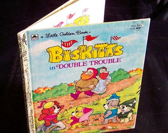 Vintage 80s Children's Book - The Biskitts in Double Trouble - 1984