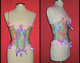 20% off Etsy557... ooak vintage  bustier,burlesque, lolita couponcode SALEFORYOU