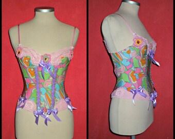 Etsy557... ooak vintage  bustier,burlesque, lolita
