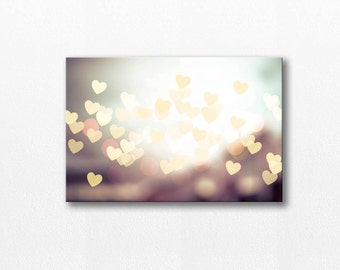 abstract photography canvas wrap 12x18 fine art photography canvas gallery wrap hearts photography canvas abstract light fine art canvas