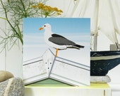 Seagull Card 'The Lookout' - Blank, British Seaside