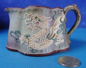 Vintage Dragonware Creamer Nippon Moriage Dragon with Wings Pitcher Handpainted Porcelain Japan