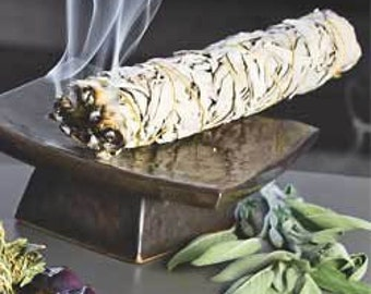 """White Sage Smudge Stick. Purification, blessing, healing. Wisdom, clearing, cleansing , protection, Organic 3.5"""""""
