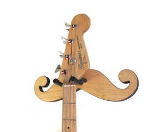 BLONDE MUSTACHE Guitar Hanger / Ready to Ship