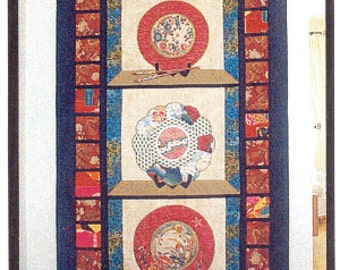 MUTTI'S CABINET CHINESE Dishes Applique Quilt Pattern
