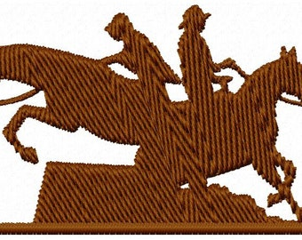 Riding Horses Embroidery Design - Instant Download