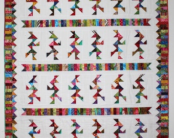 "Twin Quilt, Camelot, Knights, Running, Indians, 59"" x 77"" Quilt for Boy"