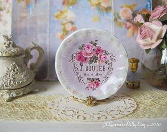 Boutee Rose Plate for Dollhouse