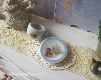 Peter Rabbit Tea Cup and Saucer for Dollhouse