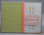 Handcrafted Birthday Candles Birthday Card
