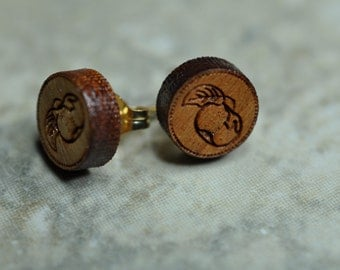 Tiny Apple Post Earrings on Surgical Steel or 14K Gold Filled Posts