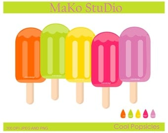 ice pop clip art,summer cool popsicles Digital clip art,Personal or Commercial Use, JPEG and PNG,instant download
