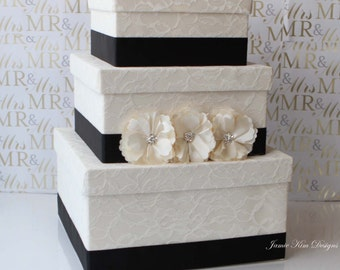 Laced Wedding Card Box Money Holder- Custom Made to Order