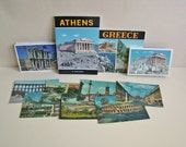 vintage Athens and Rome postcards and books ephemera instant collection set