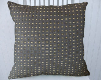 Grey Gold Decorative Pillow Cover- 18x18 or 20x20 or 22x22 Geometric Dots Throw Pillow --Accent Pillow