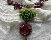Thorny English Rose Necklace
